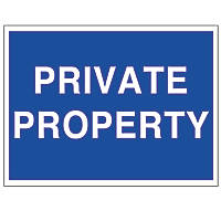 """""""Private Property"""" Sign 250 x 350mm"""