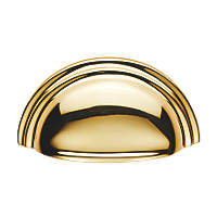Carlisle Brass Victorian Cupboard Cup Pull Handle 92mm Polished Brass