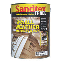 Sandtex Trade 365 All-Weather Masonry Paint Pure Brilliant White 5Ltr