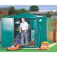 Asgard Gladiator Plus 2 All-Metal Bike Store with Assembly Green 2.3 x 4.4m