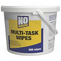 No Nonsense Multi-Task Wipes White 300 Pack