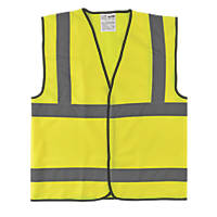 "Hi-Vis Waistcoat Yellow Medium 46"" Chest"