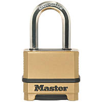 Master Lock Die-Cast Zinc 4-Digit Combination Padlock Brass 56mm