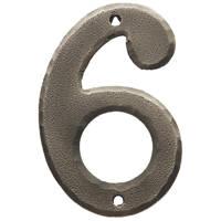 Carlisle Brass Ludlow Door Numeral 6, 9 Pewter Effect 78mm