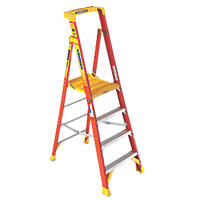 Platform Stepladder Fibreglass 4 Treads 2.13m