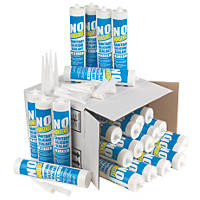 No Nonsense 11669102 & 11669002 Plumbers Sanitary Silicone 12 x Clear & 12 x White 310ml 24 Pack