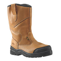 Site Gravel Safety Rigger Boots Tan Size 10