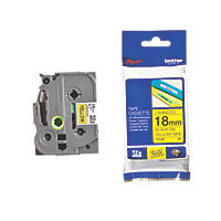 Brother TZe-641 Laminated Cassette Tape 18mm x 8m Black on Yellow