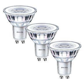 philips gu10 led light bulb 355lm 4 6w 3 pack light. Black Bedroom Furniture Sets. Home Design Ideas