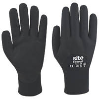 Site Siberian Thermal Nitrile Foam Gloves Black Large