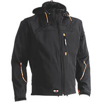 """Herock Poseidon Softshell Jacket Black Extra Large 50"""" Chest"""