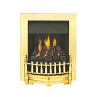 Valor Blenheim Brass Rotary Control Inset Gas Fire