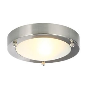 Spa Canis Bathroom Ceiling Light Stainless Steel G9 28w Flush Ceiling Lights Screwfix Com