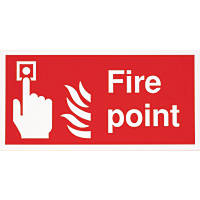 """""""Fire Point"""" Sign 200 x 400mm"""