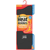 Sock Shop Heat Holders Thermal Socks Black Size 6-11 Pair