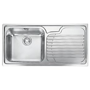 inset stainless steel kitchen sinks franke inset kitchen sink 18 10 stainless steel 1 bowl 7530