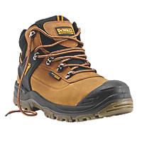 DeWalt Phoenix Waterproof Safety Boots Tan Size 7