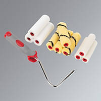 """No Nonsense High Density 4"""" Assorted Mini Rollers with Frame 10 Piece Set 11 Pieces"""