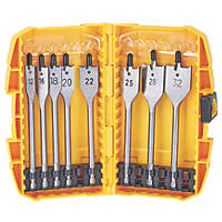 DeWalt Flat Wood Bit Set 8 Piece Set