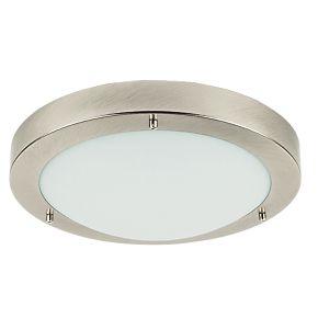 Portal Bathroom Ceiling Light Brushed Chrome ES 60W ...