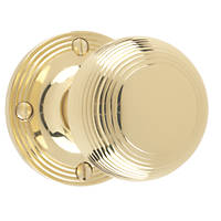 Carlisle Brass Rimmed Mortice Knobs Pair  52mm