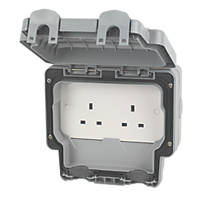 MK Masterseal Plus 13A 2 Gang Unswitched Socket