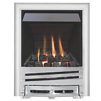 Focal Point Horizon Chrome Rotary Control Inset Gas Multiflue Fire