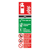 CO² Extinguisher Sign 280 x 90mm