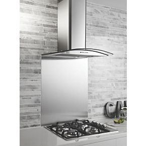ghx60ss curved glass cooker chimney hood stainless steel 600mm cooker hoods screwfixcom