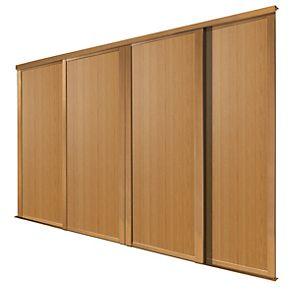 Spacepro 4 Door Panel Sliding Wardrobe Doors Oak 2998 X