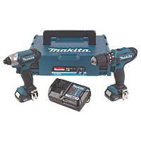 Makita CLX202AJ 10.8V 2.0Ah Li-Ion   Cordless Combi Drill & Impact Driver Twin Pack