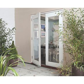 Jeld wen wellington fully finished french doors white 1800 for French doors 1800 x 2100