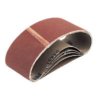 Cloth Sanding Belts Unpunched 75 x 457mm 80 Grit 5 Pack