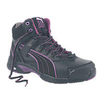 Puma Mid Stepper Ladies Safety Boots Black Size 6