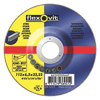 Flexovit Grinding Discs  (115mm) x 6.5 x 22.23mm 5 Pack