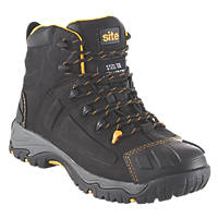 Site Fortress Waterproof Safety Boots Black Size 8