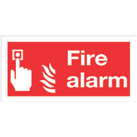 """""""Fire Alarm"""" Signs 100 x 200mm 50 Pack"""