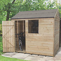 Forest 8' x 6' (Nominal) Apex Overlap Timber Shed with Base & Assembly