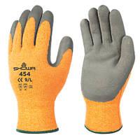Showa 454 Thermal Grip Gloves Orange / Black Large