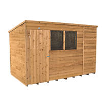 Forest 10' x 6' (Nominal) Pent Overlap Timber Shed with Assembly
