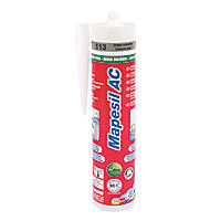 Mapei Mapesil Solvent-Free Silicone Sealant Cement Grey 310ml