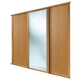 Spacepro 3 Door Sliding Wardrobe Doors Oak Mirror 2236 X