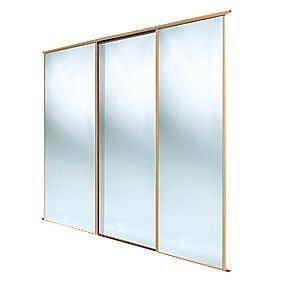 Spacepro 3 Door Framed Sliding Wardrobe Mirror Doors
