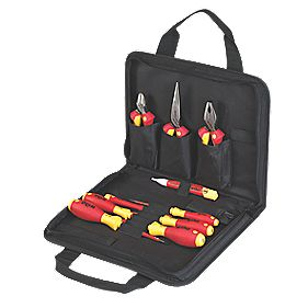 wiha electricians vde tool kit 10 piece set hand tool kits. Black Bedroom Furniture Sets. Home Design Ideas