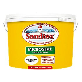 Sandtex Ultra Smooth Masonry Paint Pure Brilliant White Ltr