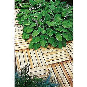 Forest ridged tile decking kit x 0 5 x 4 pack for Garden decking homebase