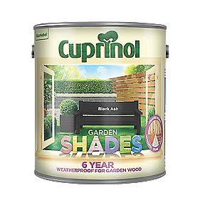 Cuprinol Garden Shades Woodstain Matt Black Ash 2 5ltr Exterior Wood Paint