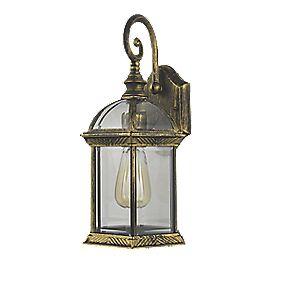 zinc 60w antique brass outdoor scroll lantern light. Black Bedroom Furniture Sets. Home Design Ideas