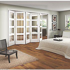 Jeld Wen Shaker 4 Panel Interior Room Divider Primed 2052