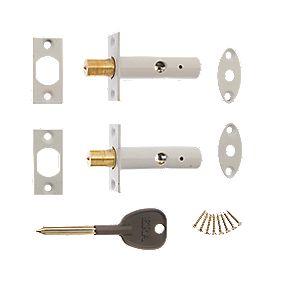 Era Brass Concealed Door Security Bolts 60mm 2 Pack Door
